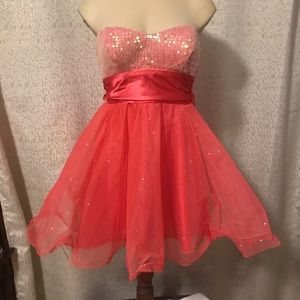 Speechless coral party dress, 3